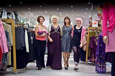 Charity Fashion show at Monsoon in the Darwin Centre, Shrewsbury. From left, Lauren Foskett, Sally-Ann Said, Patricia Williams and Becca Paulett.
