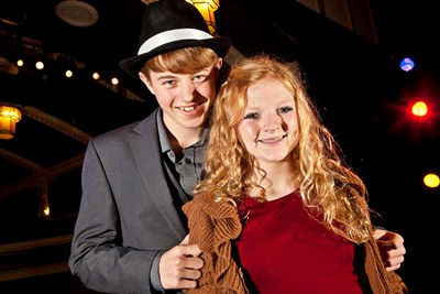 Dominic Melluish and Abigail Sherratt, stars of Bugsy Malone at the Stiwt Theatre in Rhos
