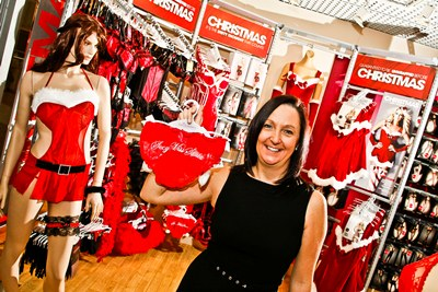 Ann Summers, Darwin Centre, Shrewsbury, Christmas best sellers with manager Leanne Harris