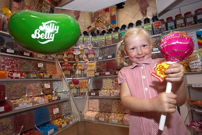 Mollies sweet shop at the Darwin centre , Shrewsbury. Pictured is Mollie Price.