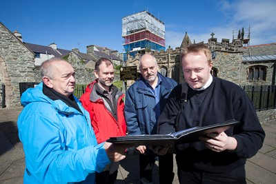 Consultations for a Holyhead Masterplan Pictured is Cllr J V Owen, Architect Dewi Williams, Alun Roberts, Anglesey Council and Alun Roberts, Mon Communities First.